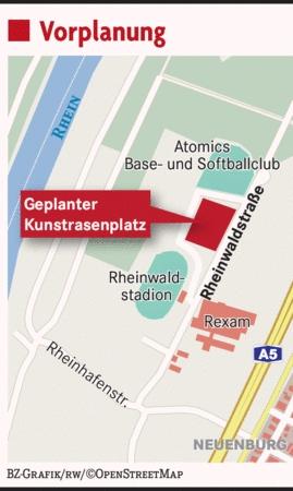 Zeitungsartikel: FC Neuenburg bekommt Kunstrasen